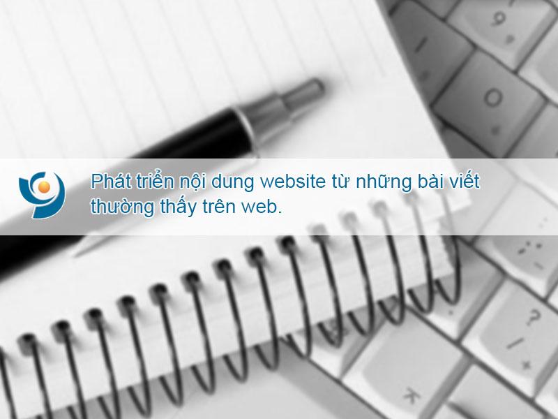 Phát triển nội dung website bám sát theo kế hoạch phát triển web