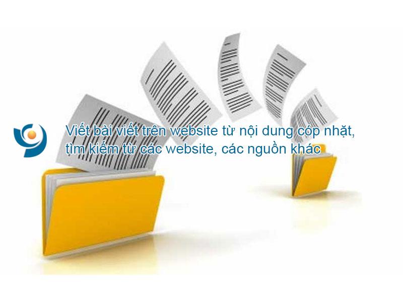Viết bài viết trên website từ nội dung cóp nhặt, tìm kiếm từ các nguồn web khác