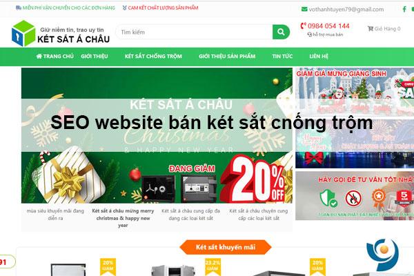 Cách seo website bán két sắt chống trộm, chống cháy hiệu quả