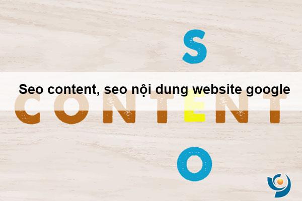 Seo content, seo nội dung website google