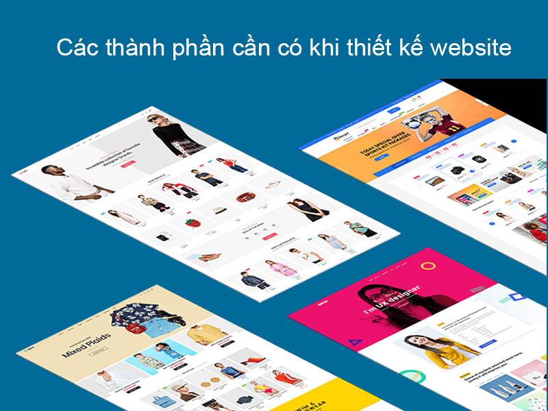 Các thành phần, yếu tố cần chú ý khi thiết kế website chuyên nghiệp