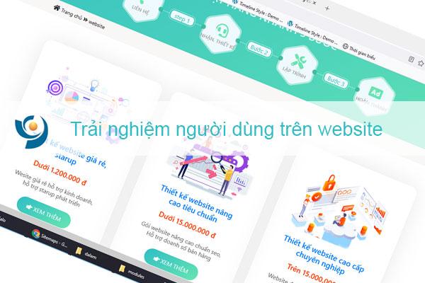 Trải nghiệm người dùng trên website tiêu chí cho website chuyên nghiệp cao cấp